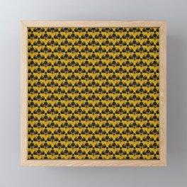 Nuclear Yellow & Black Nuke Sign Framed Mini Art Print