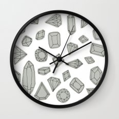 doodle crystals on white Wall Clock