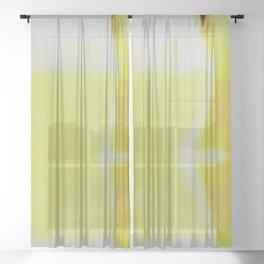 Lab Abstract Yellow Sheer Curtain