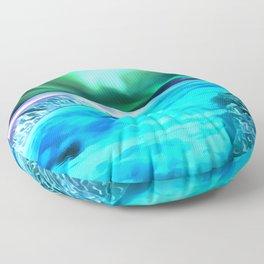 aurora borealis acrylic reacstd Floor Pillow