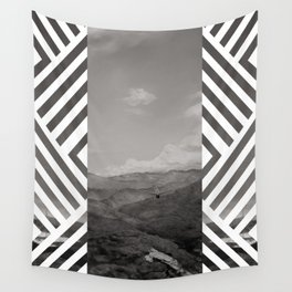 You will see me flying like a wild rain... (Vintage b/w) Wall Tapestry