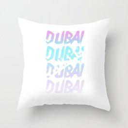 Dubai Arab Emirates Arabia Palm trees gift Throw Pillow