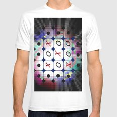 TIC TAC TOE. Mens Fitted Tee White MEDIUM