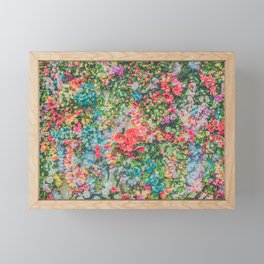 Colorful Variations of Spring Flowers Framed Mini Art Print