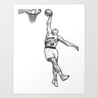 chuck Art Prints featuring Chuck by foodpyramids