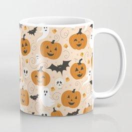 Pumpkin Party on Beige Coffee Mug