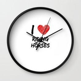 I Love Riding Horses Wall Clock