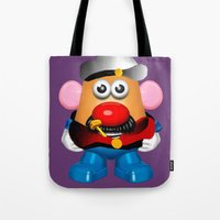popeye Tote Bags featuring Popeye Potato Head by tgronberg