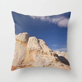 White Pocket Throw Pillow