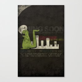Dinosaur in the City Canvas Print