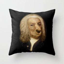Bach, your best friend!  Throw Pillow