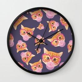 Bubblegum Cat Wall Clock