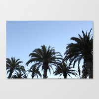 palms Canvas Prints featuring Palms by Nora Soliman