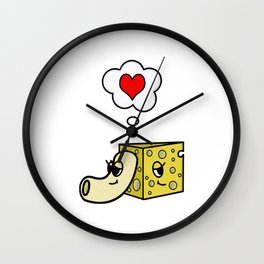 Mac -N- Cheese Love Wall Clock