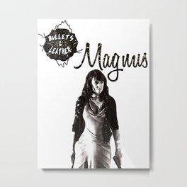 Bullets & Leather Magnus Metal Print