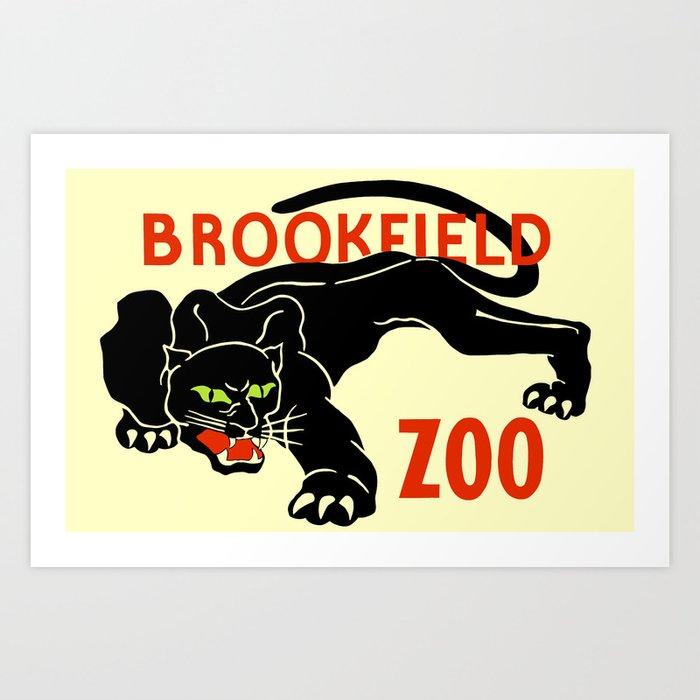Black panther Brookfield Zoo ad Art Print