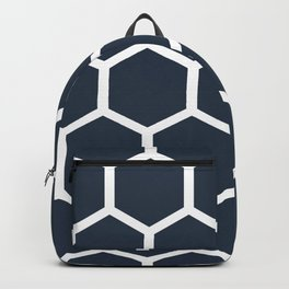 Honeycomb pattern - Dark blue Backpack