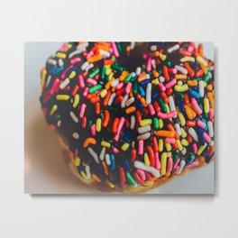 Rainbow Doughnut Metal Print