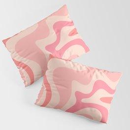 Liquid Swirl Abstract in Soft Pink Pillow Sham