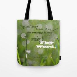 Psalm 119 Tears Tote Bag