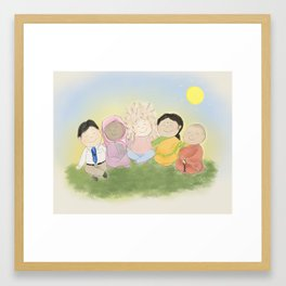 Peaceful Friends Framed Art Print