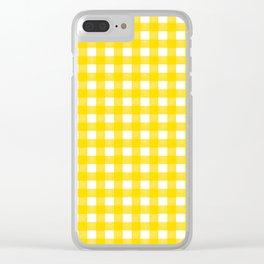 Vichy Karo Gelb Home Dekor Clear iPhone Case