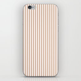 Wild MeerKat Brown Mattress Ticking Narrow Striped Pattern - Fall Fashion 2018 iPhone Skin