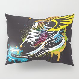 cool sneaker graffiti with wings Pillow Sham