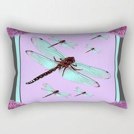 SPRING  BLUE DRAGONFLY FLIGHTS MODERN ART DESIGN Rectangular Pillow