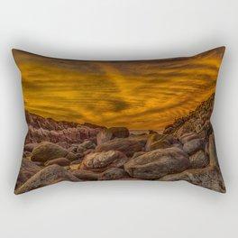 Red Rock Beach Rectangular Pillow