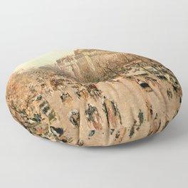 """Camille Pissarro """"Boulevard Montmartre à Paris"""" Floor Pillow"""