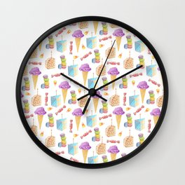 Birthday Girl Pattern Wall Clock