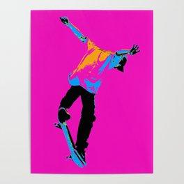 """""""Flipping the Deck"""" Skateboarding Stunt Poster"""