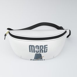 Cowbell Lover More Cowbell Music Lover Pun Fanny Pack