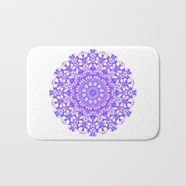 Mandala 12 / 5 eden spirit purple lilac white Bath Mat