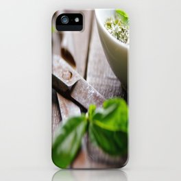 Herbs Kitchen still life from Basil iPhone Case