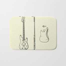 Bass Guitar-1960 Bath Mat