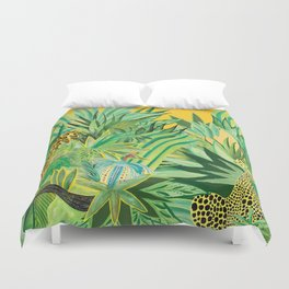 Leopard and a Chita Duvet Cover