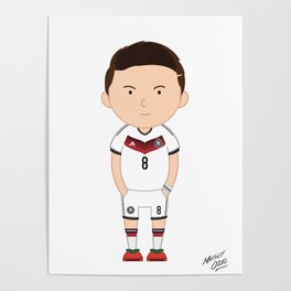 Mesut Ozil - Germany - World Cup 2014 Poster