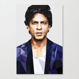 Shahrukh khan Poster low poly Canvas Print
