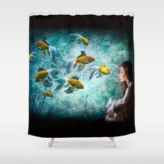 Ocean Deep Dreaming Shower Curtain
