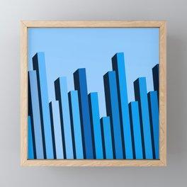 Blue Buildings Framed Mini Art Print