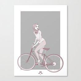 Just a bike ride Canvas Print