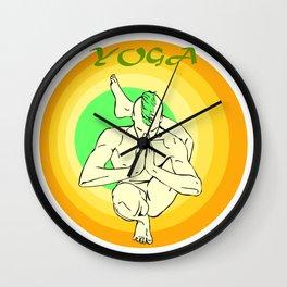 Yoga: asana Wall Clock