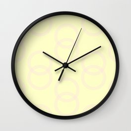 Simply Infinity Link Pink Flamingo on Pale Yellow Wall Clock