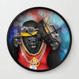 Rapper of the apes Wall Clock