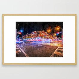 City at Night Framed Art Print