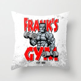 Frank's Gym Throw Pillow