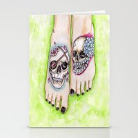 feet Stationery Cards featuring feet by musentango87