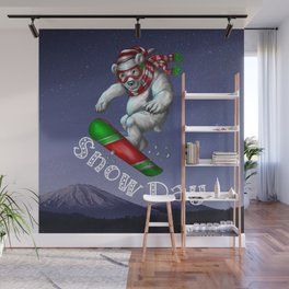 Snow Day Snowboard Wall Mural